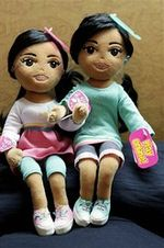 Sasha and malia dolls